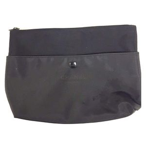 Chanel Black Cosmetic Bag Pouch Zipper